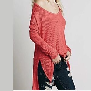 New free People Poppy sunset park thermal top Sz m